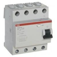 АВВ Выключатель дифференциальный тока 4мод. FH204 AC-25/0.03 2CSF204004R1250
