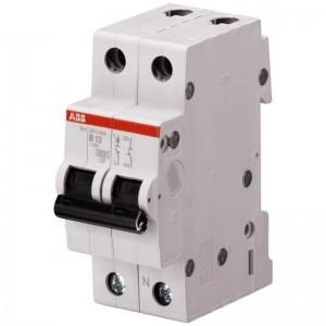 Автоматический двухполюсный выключатель SH202L B6 4,5 кА С6