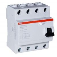 АВВ Выключатель дифференциальный тока 4мод. F204 AC-100/0.03 2CSF204001R1900