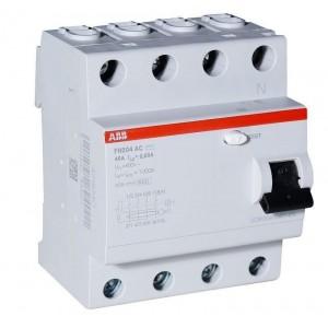 АВВ Выключатель дифференциальный тока 4мод. F204 AC-40/0.3 2CSF204001R3400