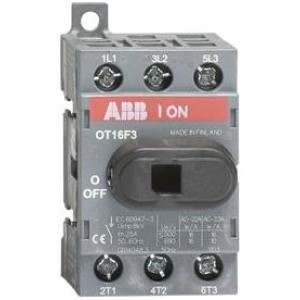 Рубильник 3-х полюсный ABB OT16F3 16А