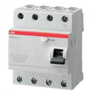 Выключатель автоматический дифференциального ABB FH204 25A 30mA A